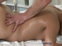 Massage Rooms Two horny girls share big cock
