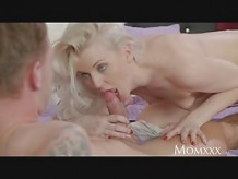 MOM Heavenly Blonde MILF Craves Cock In Shaved Pussy