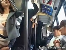 Publicsex asian sucks cock on the bus
