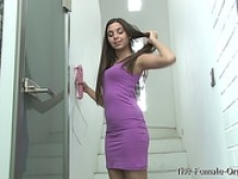 21 Year Old Diana Dolce Masturbates to Orgams on the Stairs