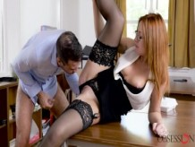 Babes - Ginger has some fun at work, Eva Berger