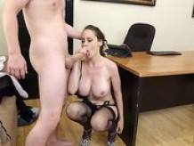 McKenzie Lee Big tits Milf secretary office fucked