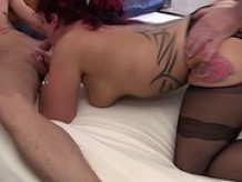 Landlord mature swinger take two dicks hardcore threesome