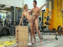 HD FantasyHD - Jessa Rhodes, rides guys hard dick for her workout