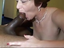 Mature Loves Her Black Solid Sausage