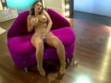 Sexy blond Yisela Avendaño masturbating herself