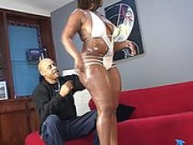 Skyy Black sucks and fucks a big black cock