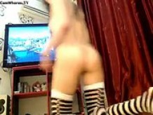 Gaming girl rides a BBC