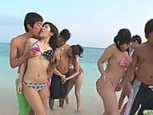 Group beach sex