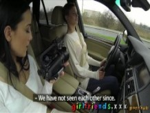 Girlfriends Cute girls explore lesbian fantasy on road trip