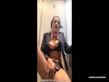 Flight attendant uses in-flight wifi to cam on camsoda!