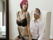 NF Busty - Big Tit Anna Bell Peaks Tied Up And Fucked Client
