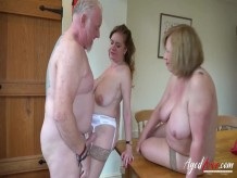 AgedLovE Two Madures Seduced Handy Man